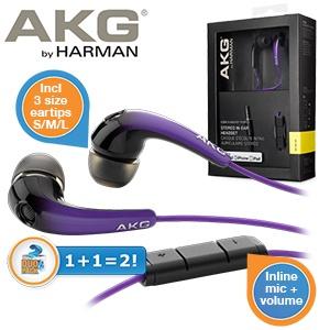Duopack AKG K328 in-ear oordopjes voor € 25,90 @ iBOOD