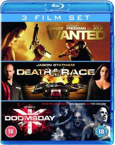 Wanted / Death Race / Doomsday  op Blu-ray voor € 7,75 @ Zavvi