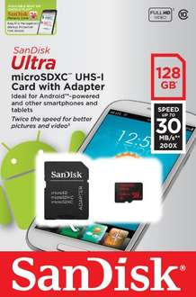 Sandisk Ultra microSDXC 128GB voor € 80,41 @ Amazon.fr