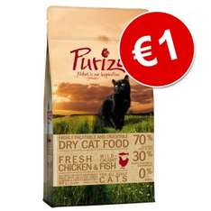 Purizon Adult kip met vis kattenvoer 400 gram voor €1 @ zooplus.nl