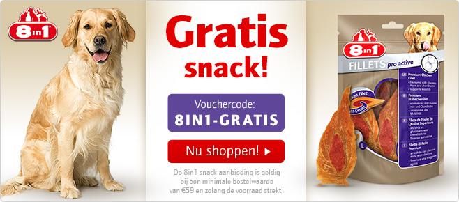Gratis hondensnack bij bestelling door vouchercode @ zooplus.nl