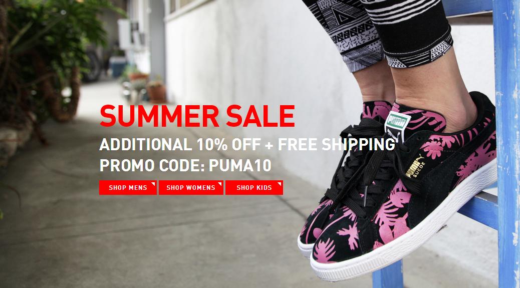 Sale met kortingen tot 50% + 10% extra korting en gratis verzending @ PUMA