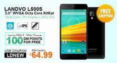 LANDVO L500S Smartphone door promotion code voor €57,04 @ DealsMachine