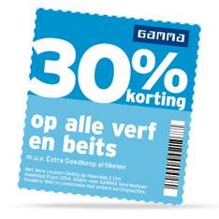 Korting tot 30% bij GAMMA door kortingscoupons