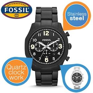 Fossil FS4864 herenhorloge (zwart en zilver) voor € 75,90 @ iBOOD