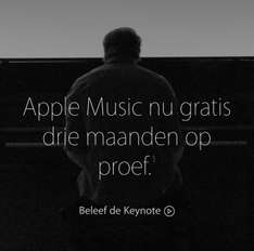 Gratis 3 maanden Apple Music @ Apple