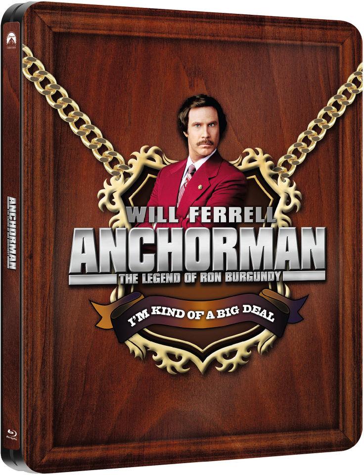 Anchorman: The Legend of Ron Burgundy (Blu-ray) (steelbook) voor €7,75 @ Zavvi