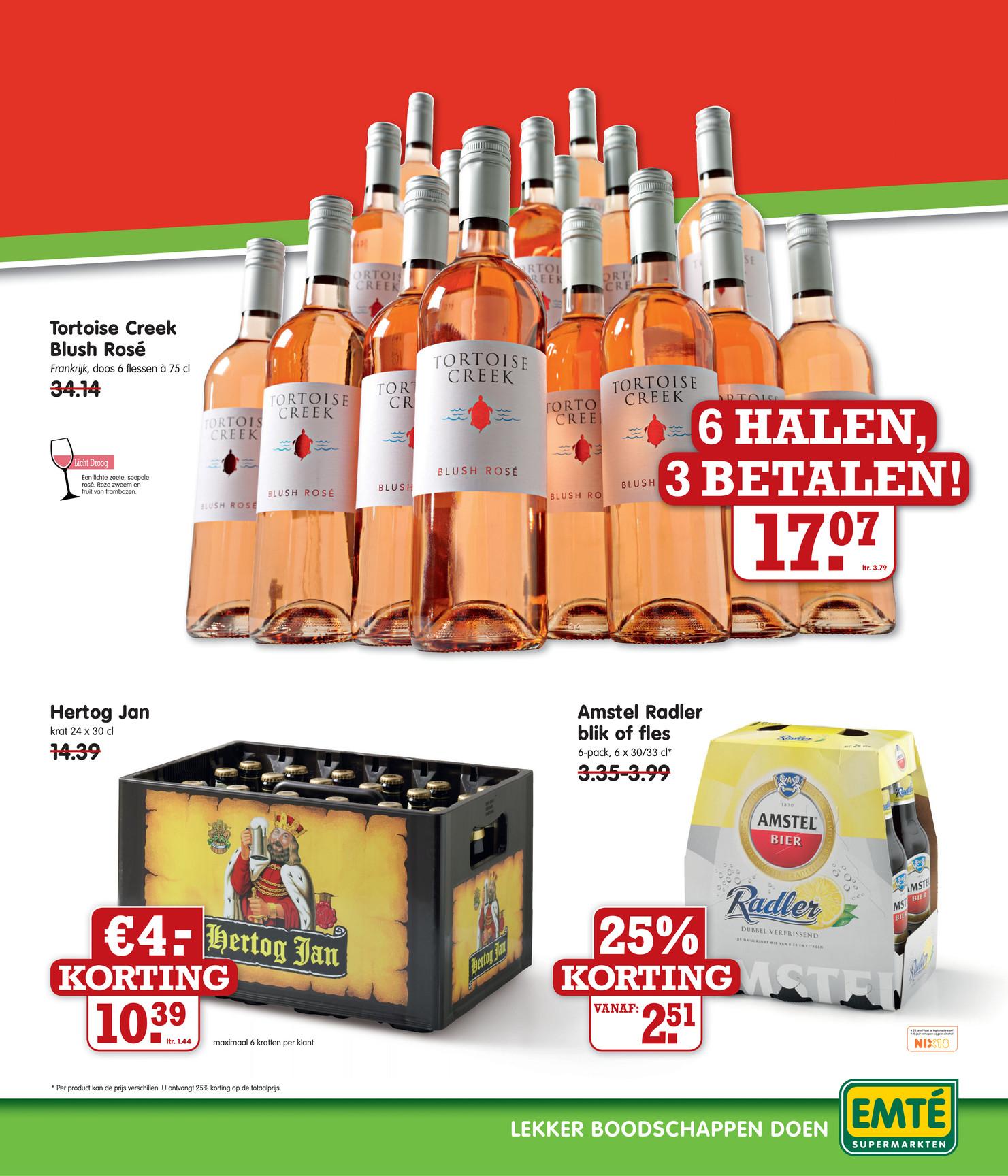 Krat Hertog Jan voor € 10,39 @ Emté