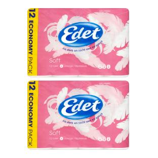 Edet Soft 4-laags toiletpapier 1 + 1 gratis @ Jumbo
