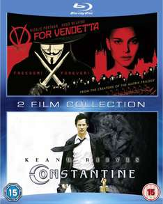 V for Vendetta + Constantine (Blu-ray) voor € 9,59 @ WOW HD