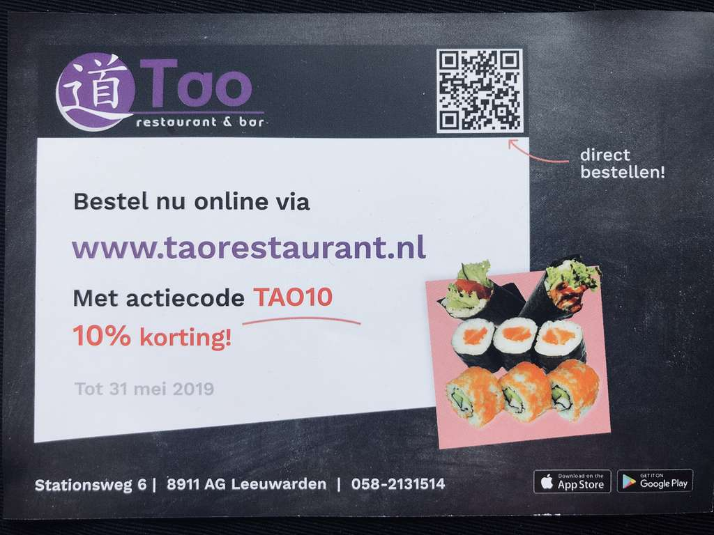 Leeuwarden 10 Korting Bij Tao Sushi Restaurant Pepper Com Sushi station is a cornerstone in the thunder bay community and has been recognized for its outstanding sushi & thai cuisine, excellent service, and friendly staff. leeuwarden 10 korting bij tao sushi