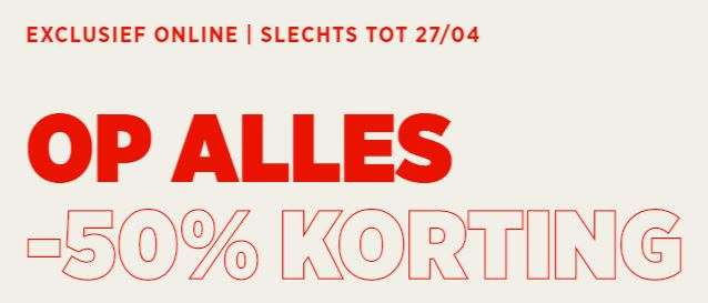 Actie: 50% EXTRA korting op alles @ Mango Outlet
