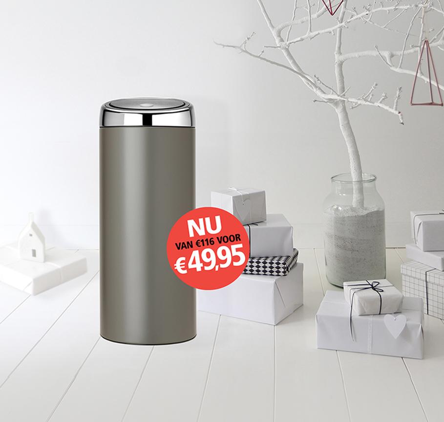 brabantia touchbin platinum 30 liter. Black Bedroom Furniture Sets. Home Design Ideas