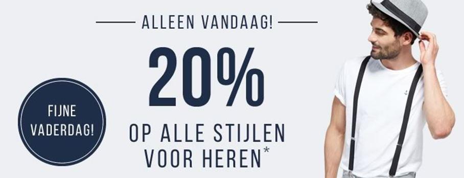 Vandaag 20 korting op herenmode ook op sale tom tailor - Geldt bold ...