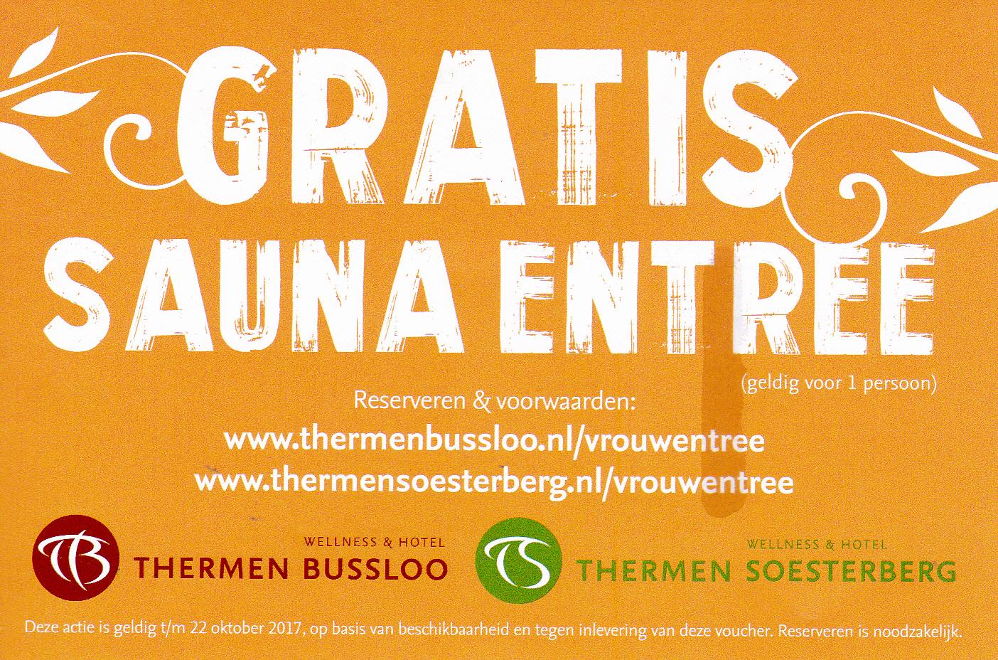 Populair Gratis Sauna entree (Bussloo + Soesterberg) @ Telegraaf - Pepper.com @US-74
