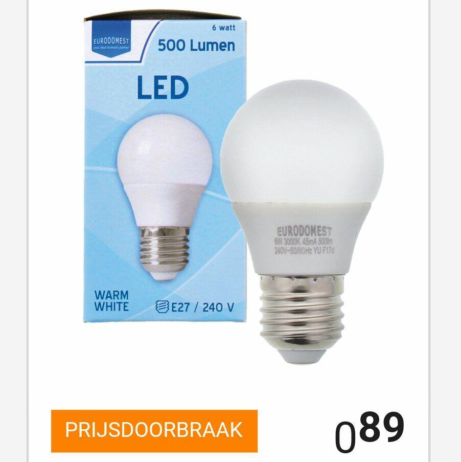 weekactie eurodomest led lamp action peppercom