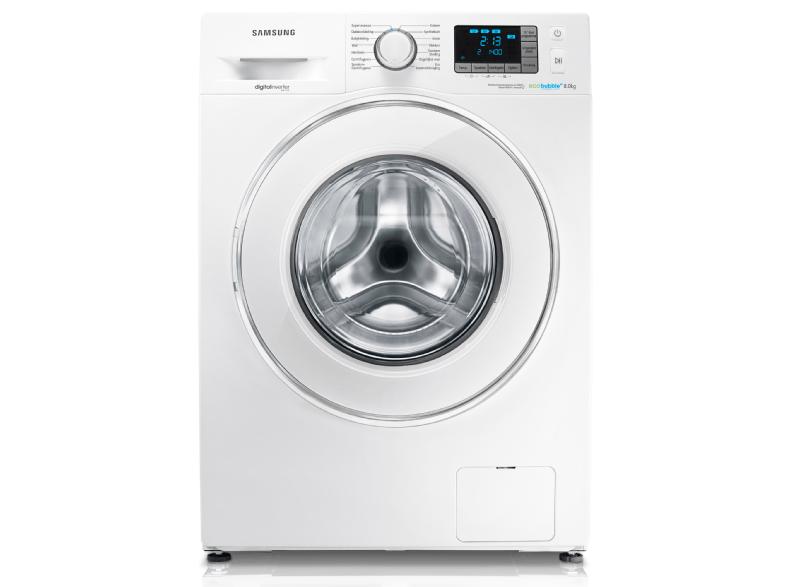 samsung wf80f5e5p4w en ecobubble wasmachine voor 399 media markt club. Black Bedroom Furniture Sets. Home Design Ideas