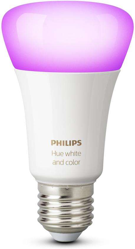 dagdeal philips hue white and color ambiance e27 losse lamp. Black Bedroom Furniture Sets. Home Design Ideas