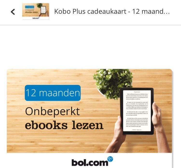 kobo e reader cadeaukaart