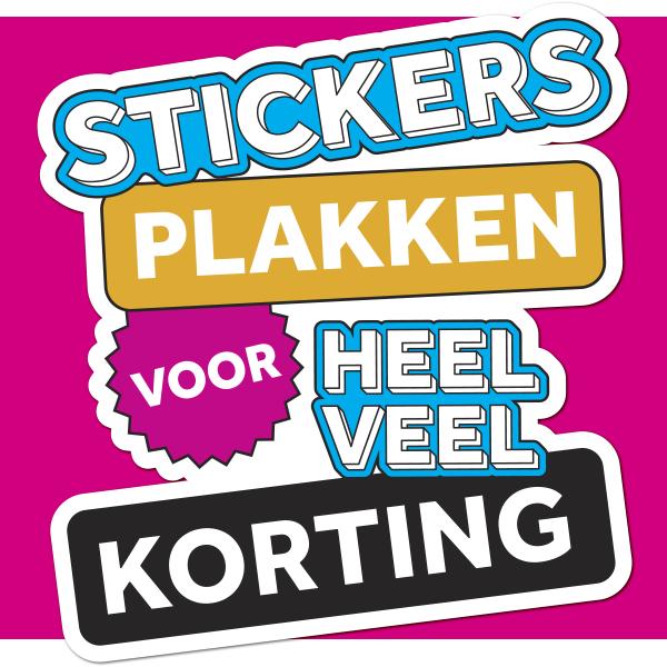 Stickers voor 15% tot 25% korting en 2+1 gratis e.d. @ Leenbakker ...