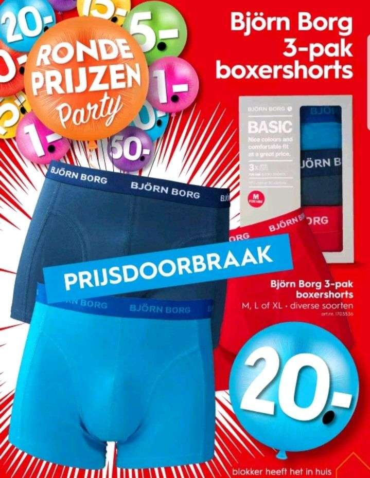 b16725b10a3 Blokker, Björn Borg 3 pak boxershort €20.00 - Pepper.com