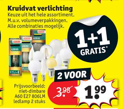 1+1 gratis verlichting @ kruidvat - Pepper.com