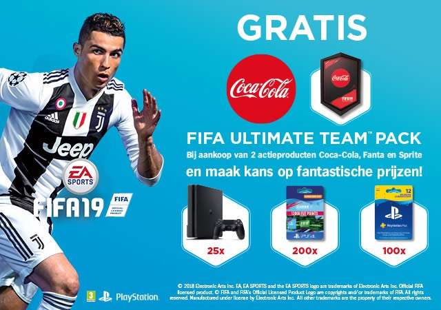 c570dcf3f Gratis Coca-Cola FIFA19 Ultimate Team packs - Pepper.com