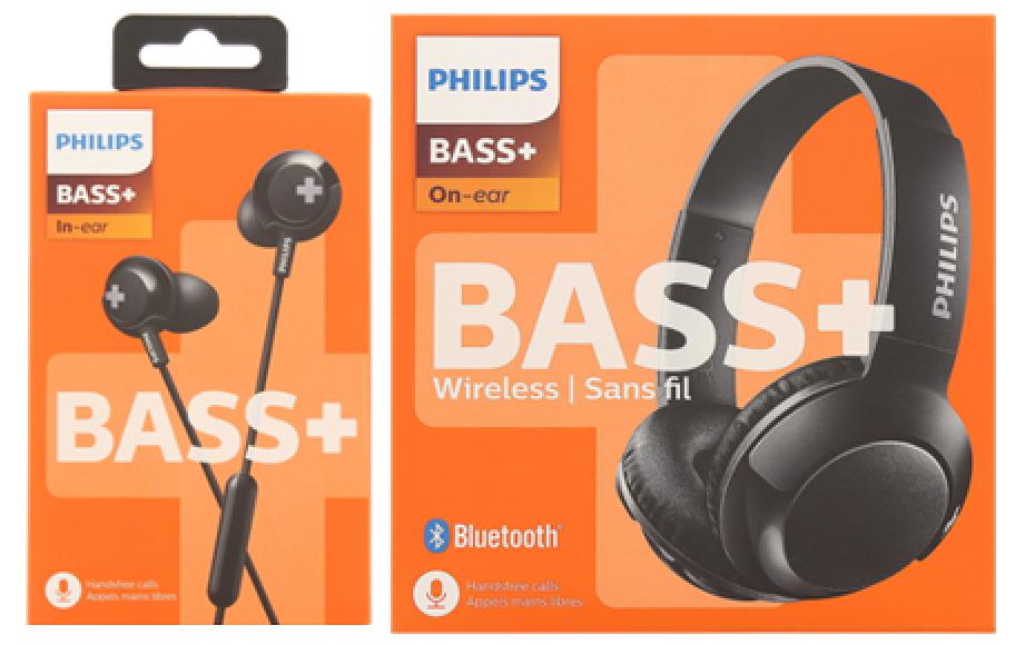 ziet er goed uit schoenen te koop nieuw concept beste selectie Philips BASS+ oordopjes voor €8.95 en koptelefoon voor ...