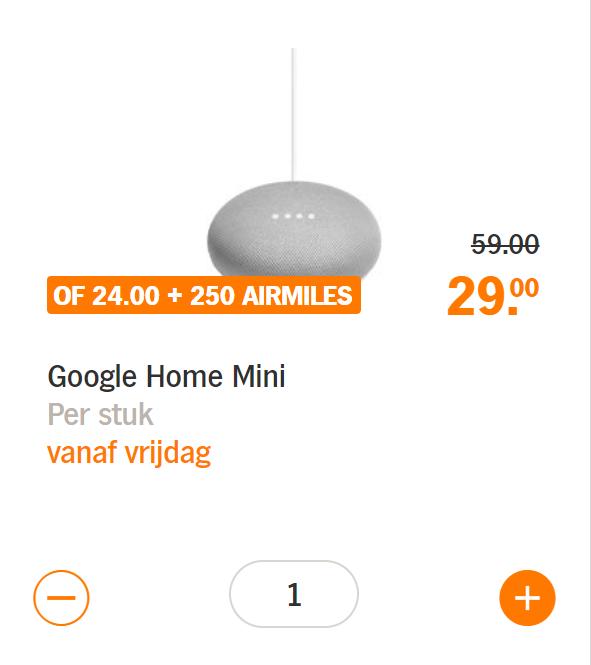 Blokker Dukaten Geldig Tot.Google Home Mini Albert Heijn Pepper Com