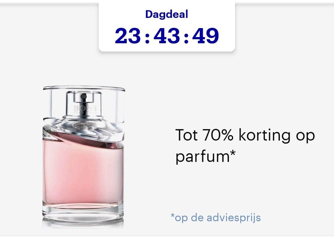 Dagaanbieding 70% korting parfum