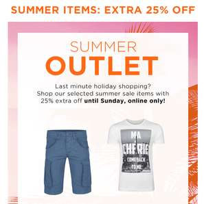 25% EXTRA korting op summer outlet sale @ We Fashion