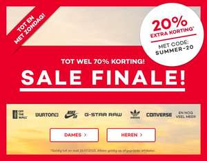 Sale tot 70% + 20% extra korting @ Planet Sports