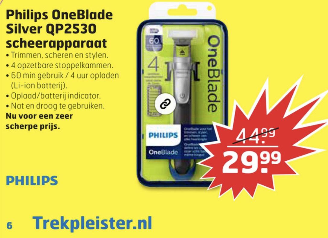 Philips OneBlade QP2530/20 voor 29,99 @Trekpleister