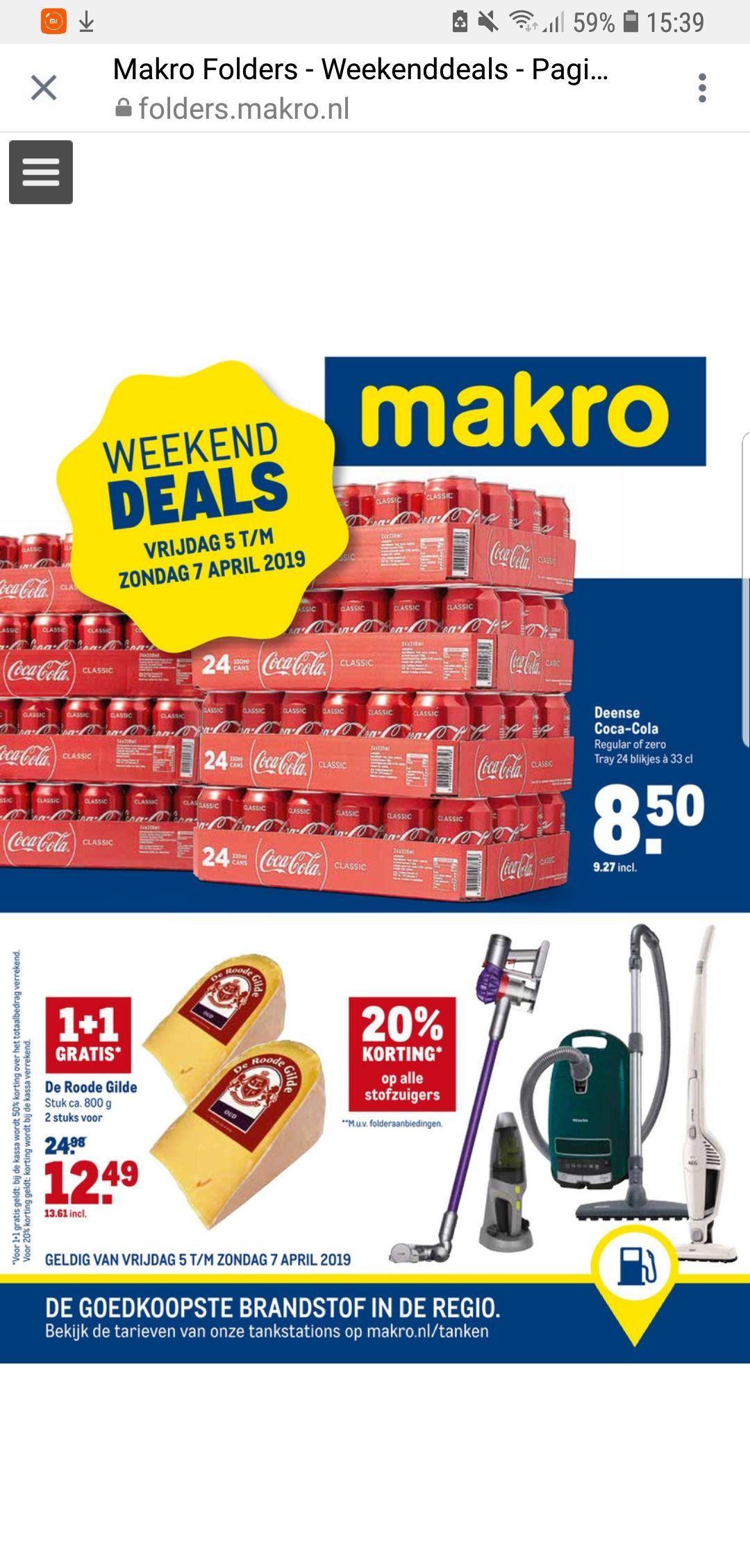 Deense Coca Cola tray voor €9.27 @makro