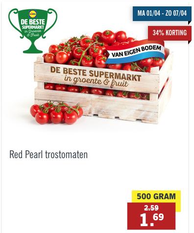 Red Pearl Trostomaten voor 1,69 per 500 gram