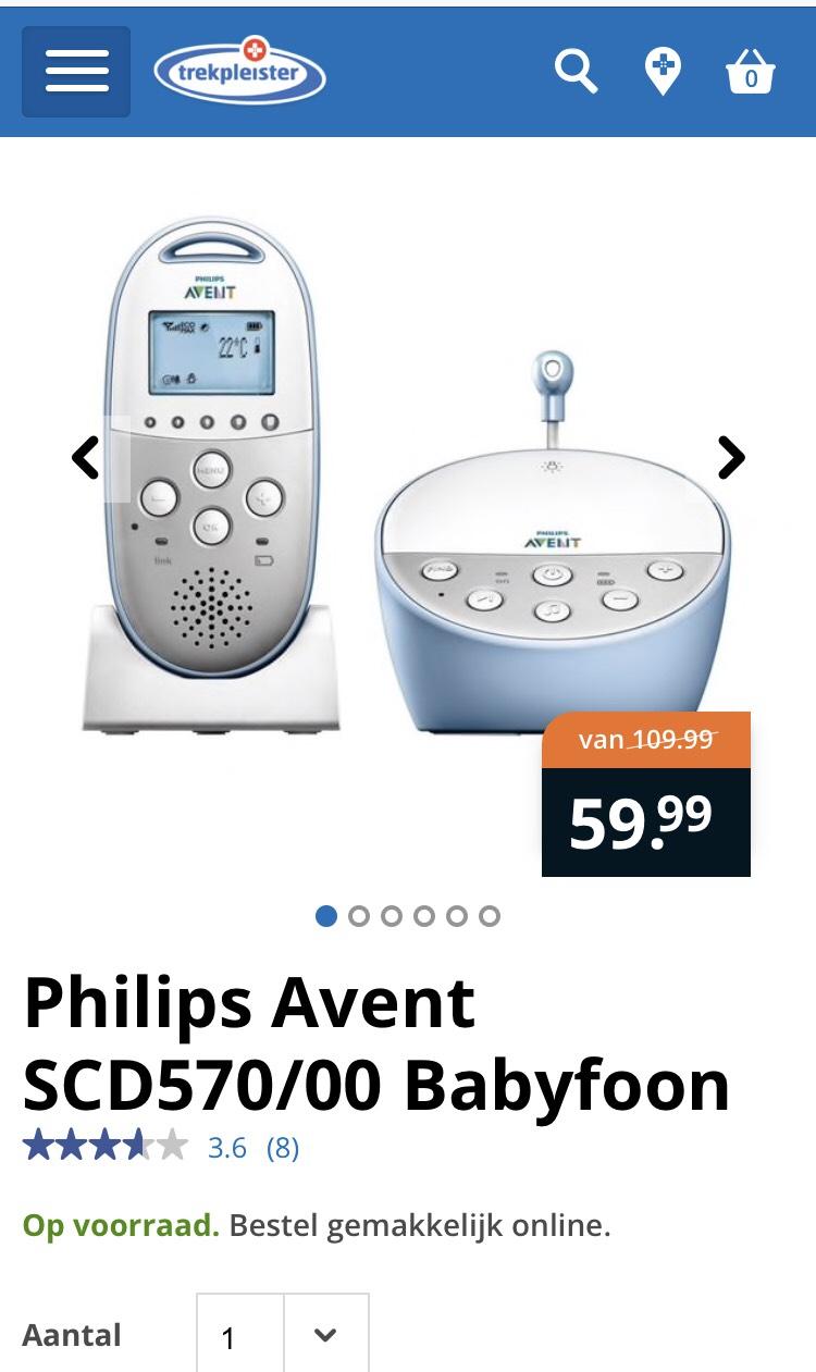 Philips Avent SCD570/00 Babyfoon in de aanbieding bij trekpleister