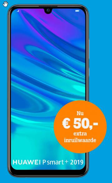 Huawei P Smart+ 2019 @ Tele2.nl icm maandelijks opzegbaar abonnement