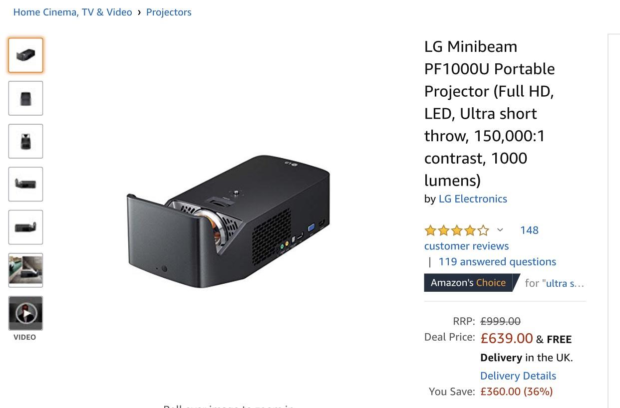 LG PF1000U Amazon UK