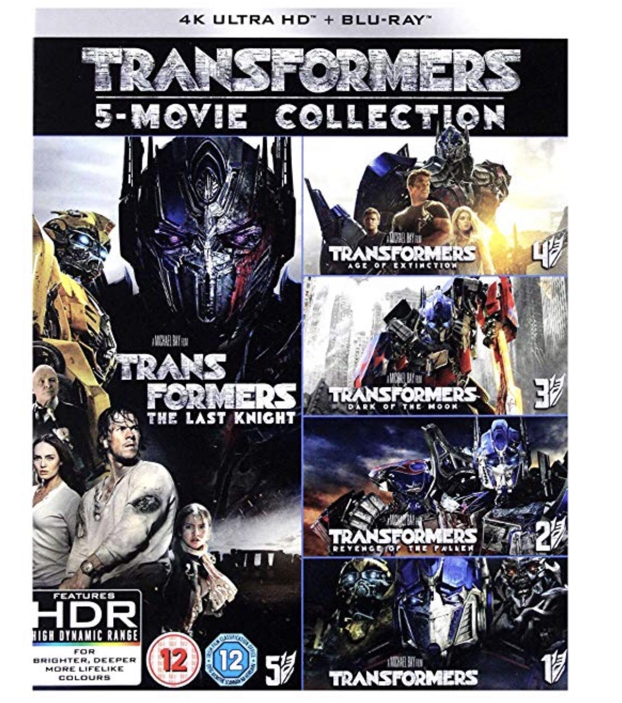 [Amazon UK] Transformers UHD Blu-Ray 5 films
