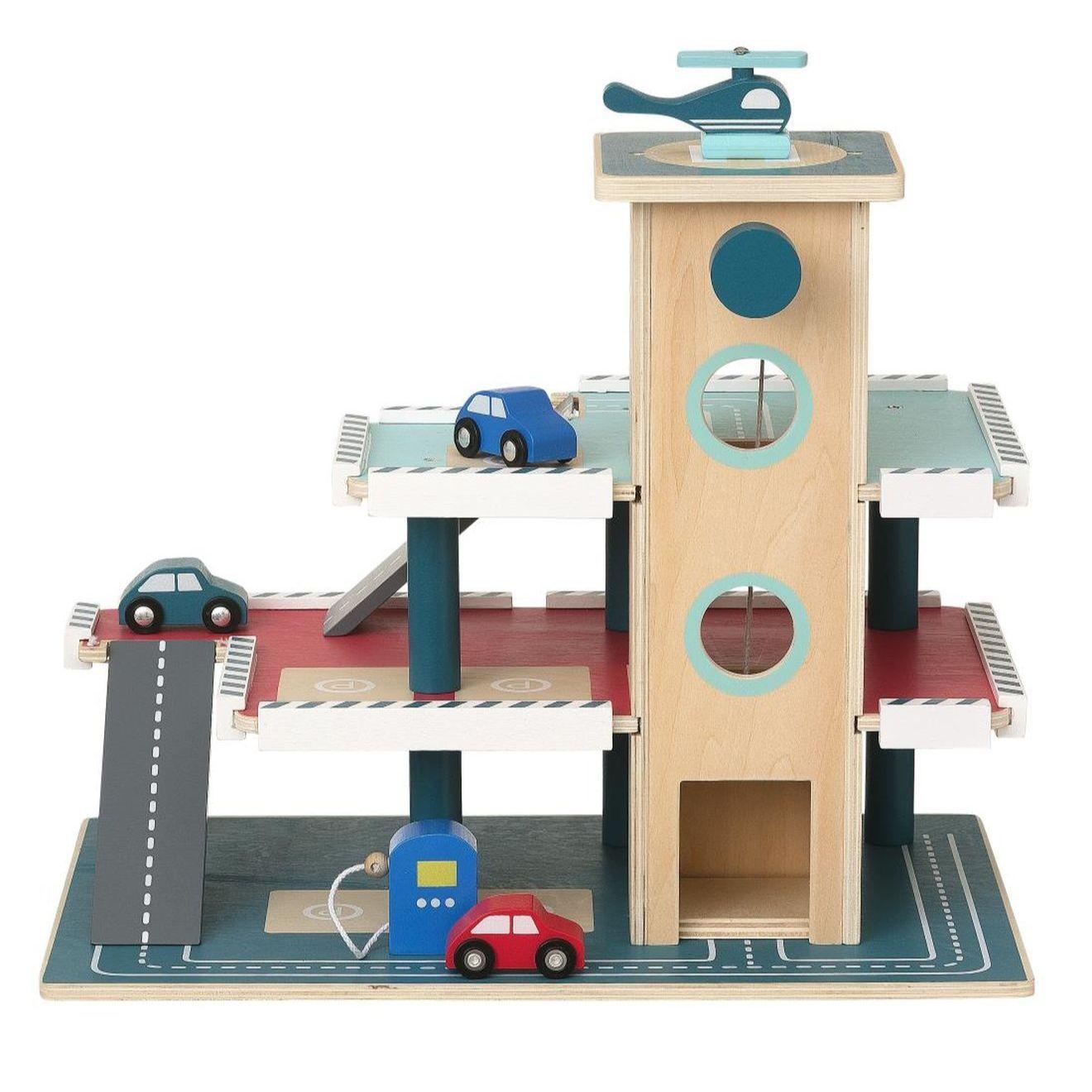 Houten parkeergarage + voertuigen voor €25 (i.p.v. €45) @HEMA