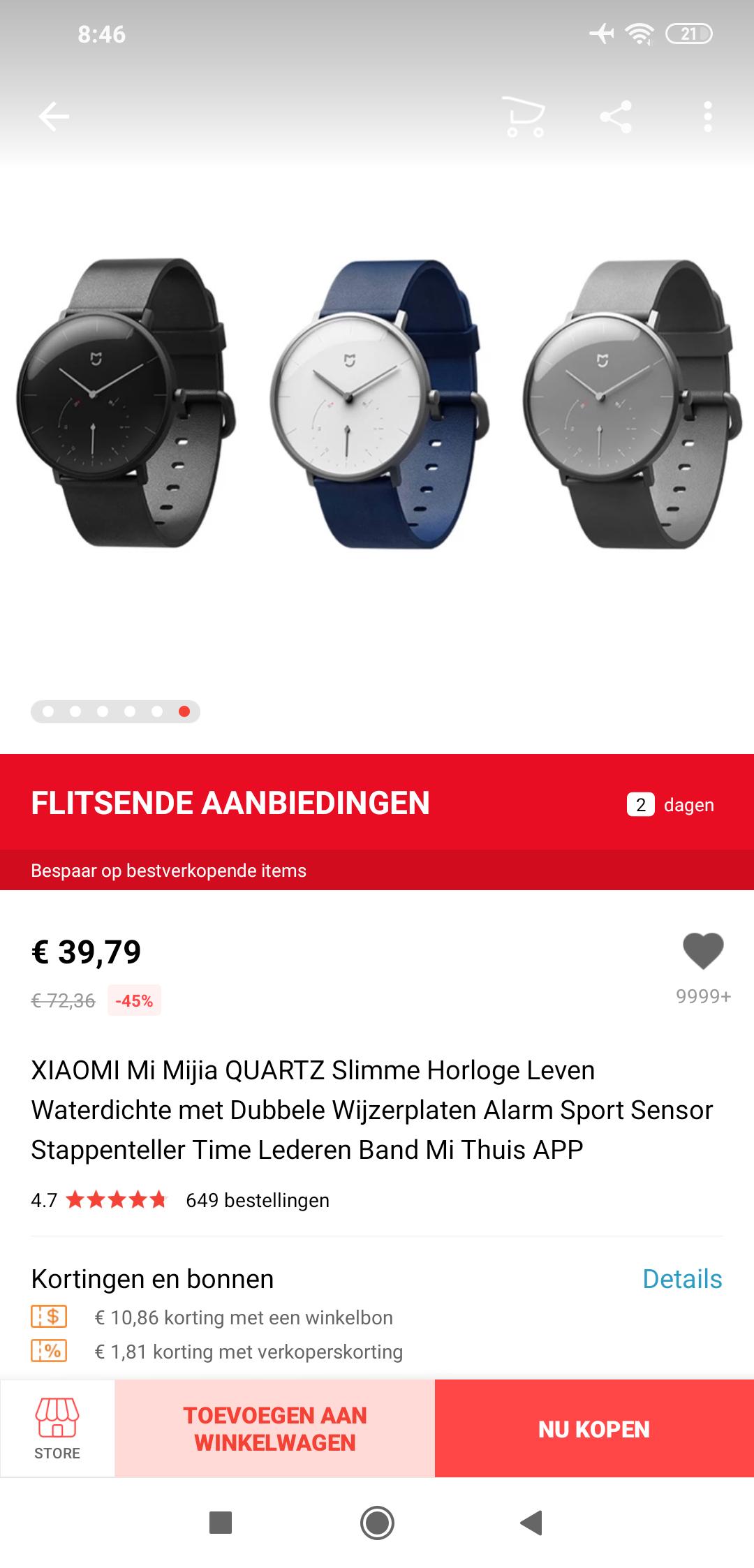Xiaomi Mi Mijia quartz smartwatch