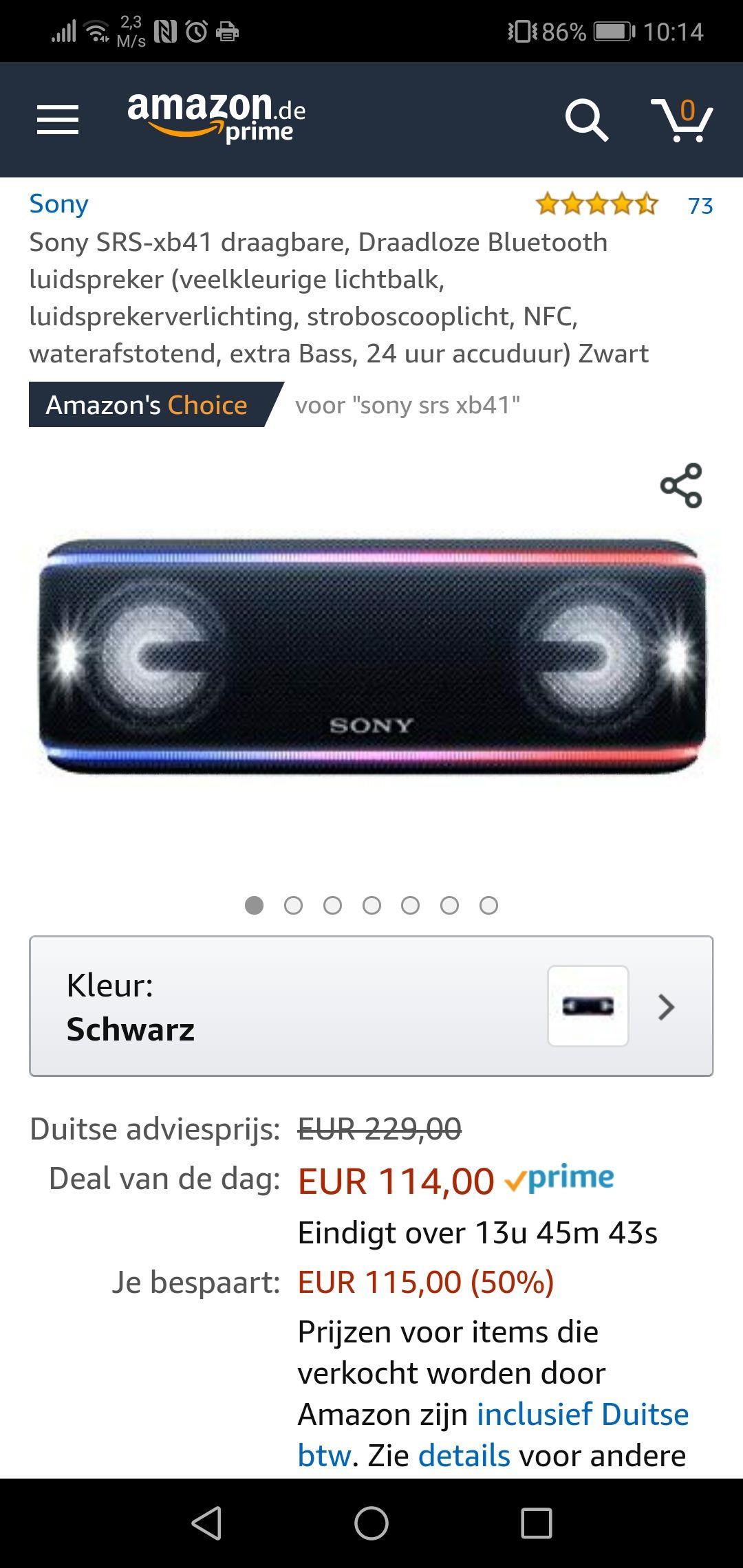 Sony srs-xb41 @ Amazon.de