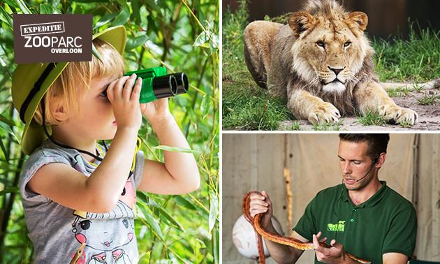 ZooParc Overloon entree van €16,95 voor €9,95 (41% korting)