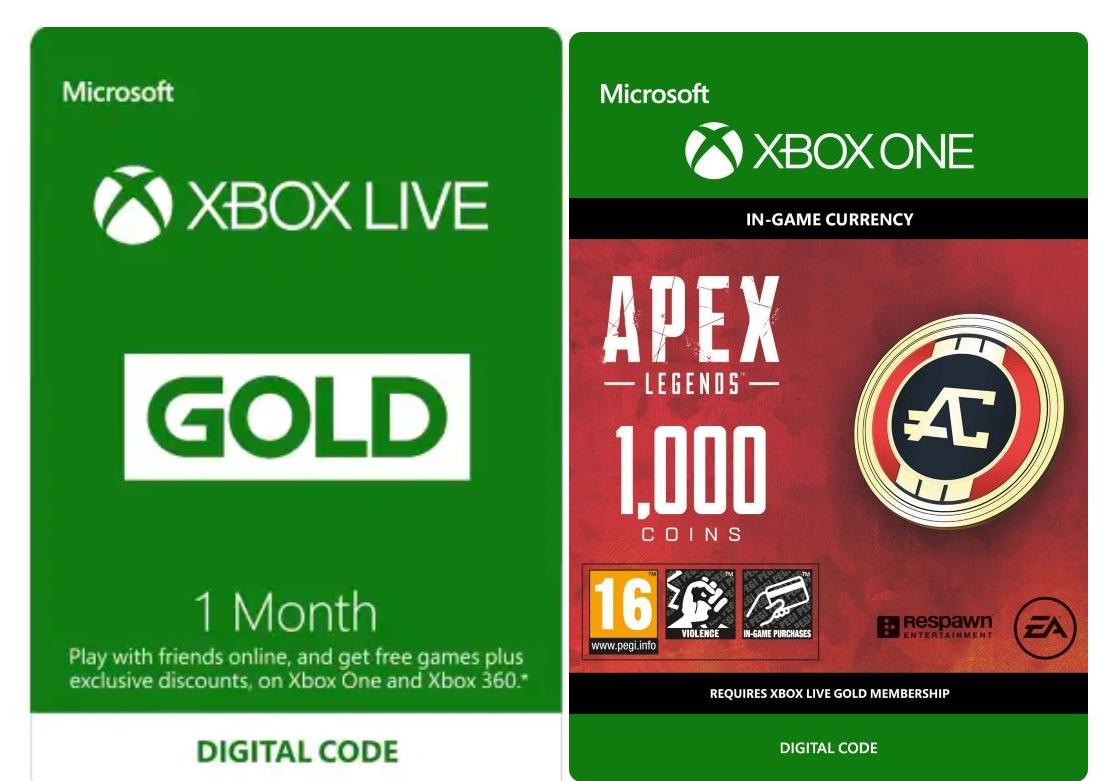1 maand Xbox Live Gold + 1000 Apex Legends-bonusmunten voor €1 @ Microsoft (vanaf 11 april)