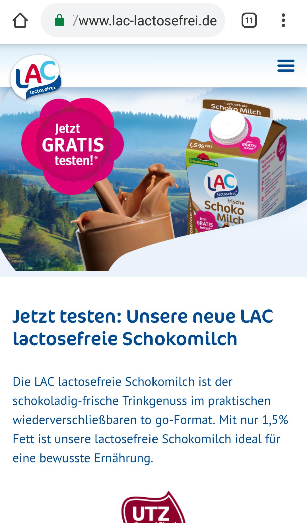 [Grensdeal Duitsland] Geld terug op LAC lactosevrije chocolademelk 0,5L