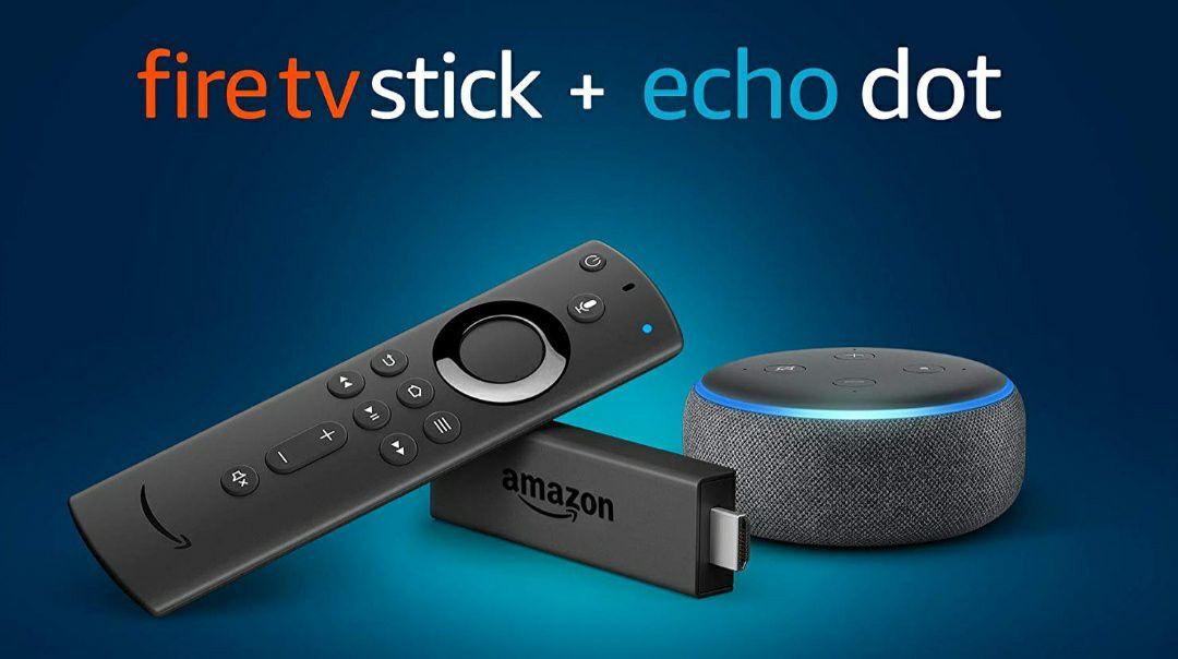 Fire TV Stick + Echo Dot (3. Gen.) Anthrazit