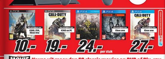[UPDATE] CoD: Advanced Warfare PS3 €19 - PS4/One €27 + Destiny voor €10 @ Media Markt