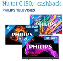 Tot €150,- cashback op geselecteerde Philips TV's (@Coolblue)
