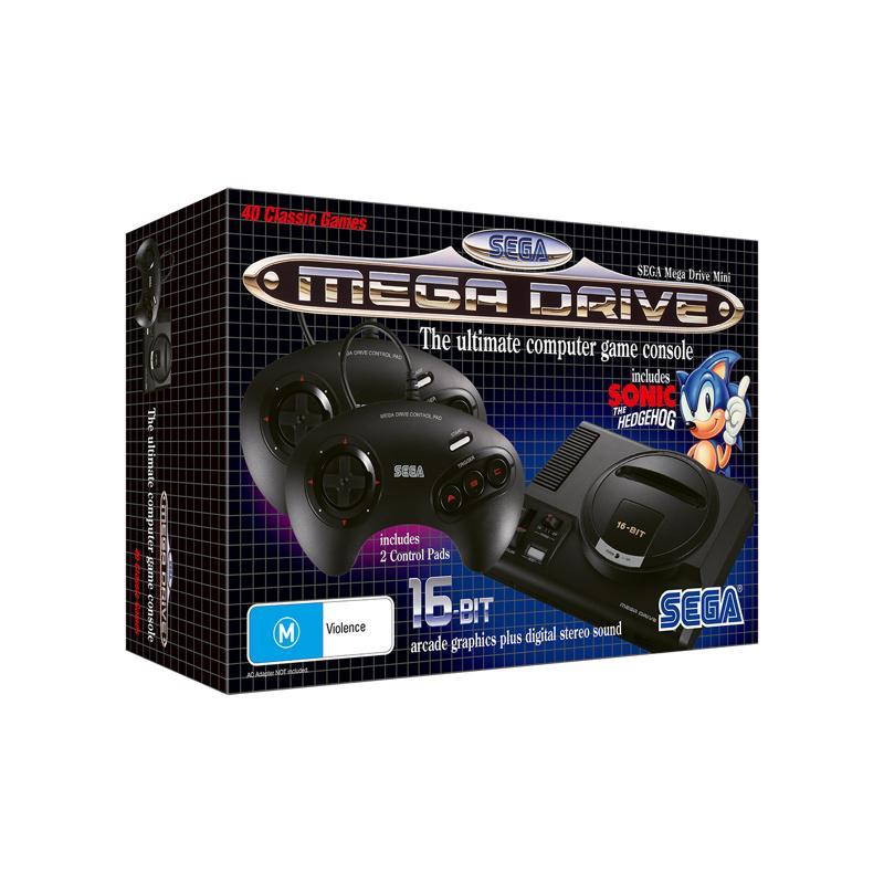 Sega Mega Drive Mini Met 2 Controllers + Sleutelhanger Voor € 68,00 i.p.v. €79,99.
