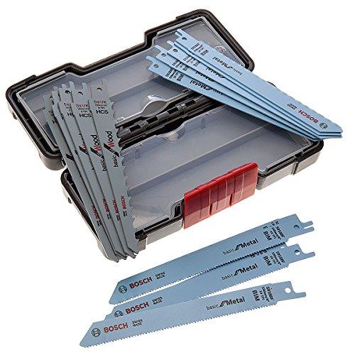 15 Bosch Reciprozaagbladen voor hout en metaal in koffer